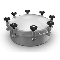 Round Pressure Cover (up to 8/-1bar)